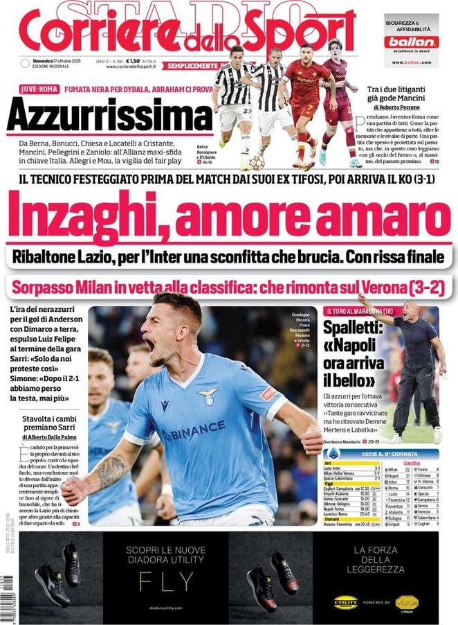The entrance pages of right now's sports activities newspapers – October 17